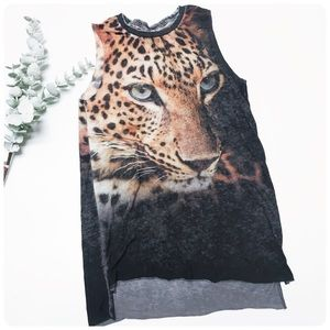 Chaser tiger graphic tank top S